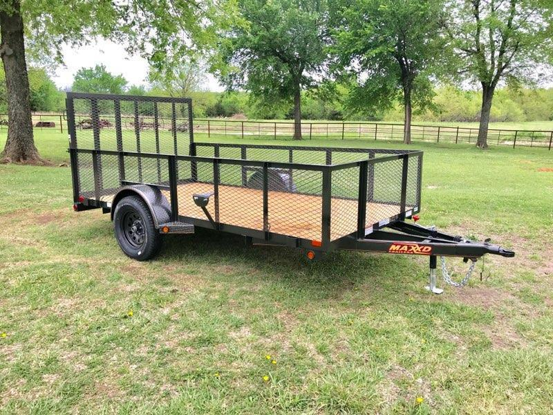 "2018 MAXXD 12' x 77"" Single Axle Landscape Trailer"