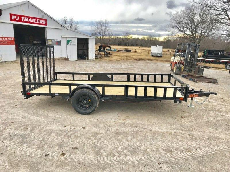 "2019 MAXXD 14' x 83"" Single Axle Utility W/ Side Load"