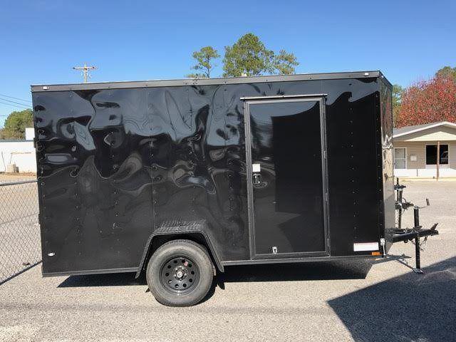 2017 Diamond Cargo 6x12SA Single Axle Enclosed Cargo Trailer - Blackout