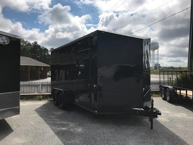 2018 Anvil 7x14 TA Blackout Motorcycle Trailer