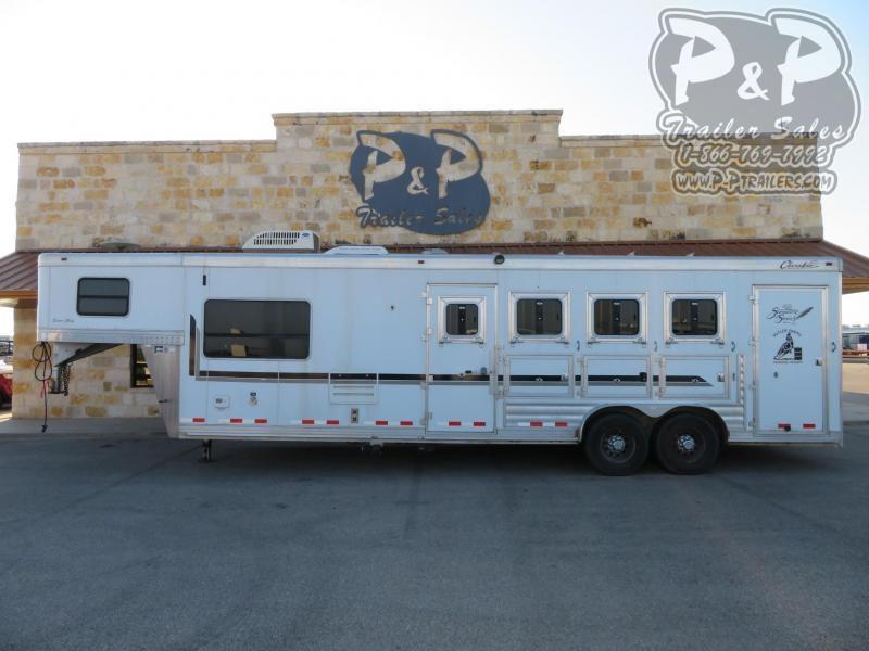 2008 Cherokee 8410 4 Horse Slant Load Trailer LQ