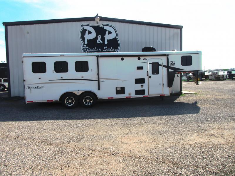 2018 Bison Trailers 7308 TH 3 Horse 8 LQ Horse Trailer Slant