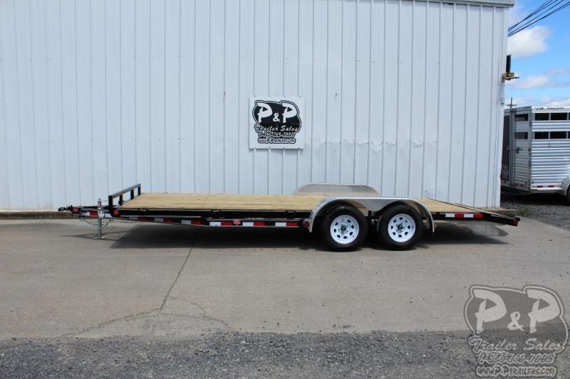 2020 PJ Trailers Wood Floor Car Hauler 20x83 20' Utility Trailer