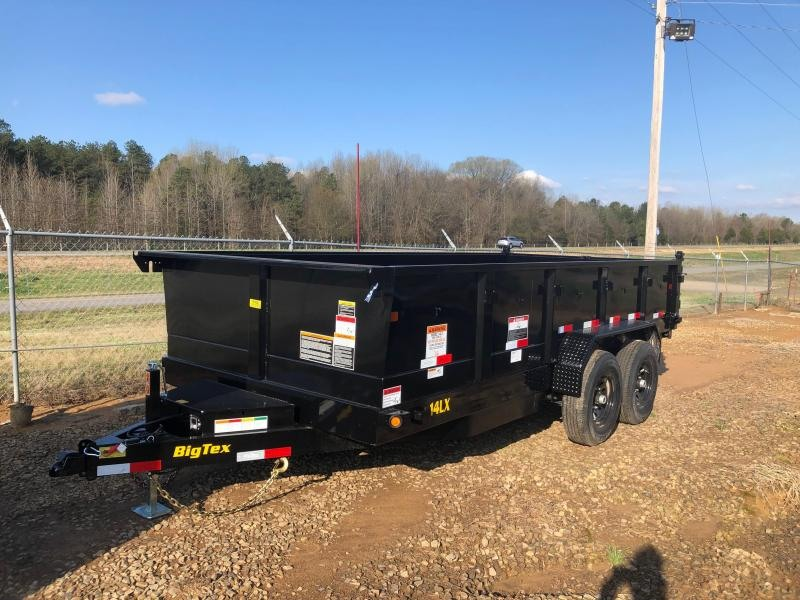2020 Big Tex Trailers 2019 Big Tex Trailer 14LX-16BK7SIRPD w/ Slide in Ramps 16' Dump Trailer