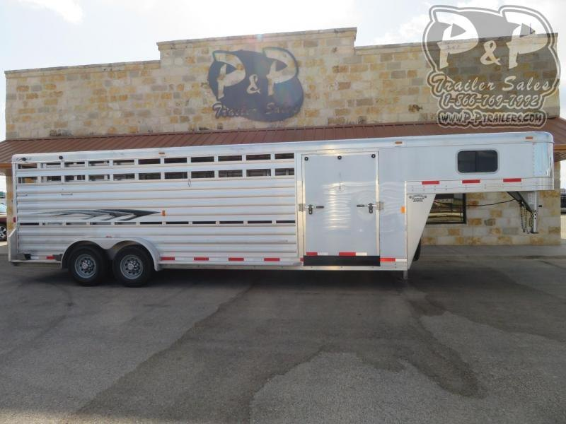 2016 Exiss Trailers 8x24STK 24 ft Livestock Trailer