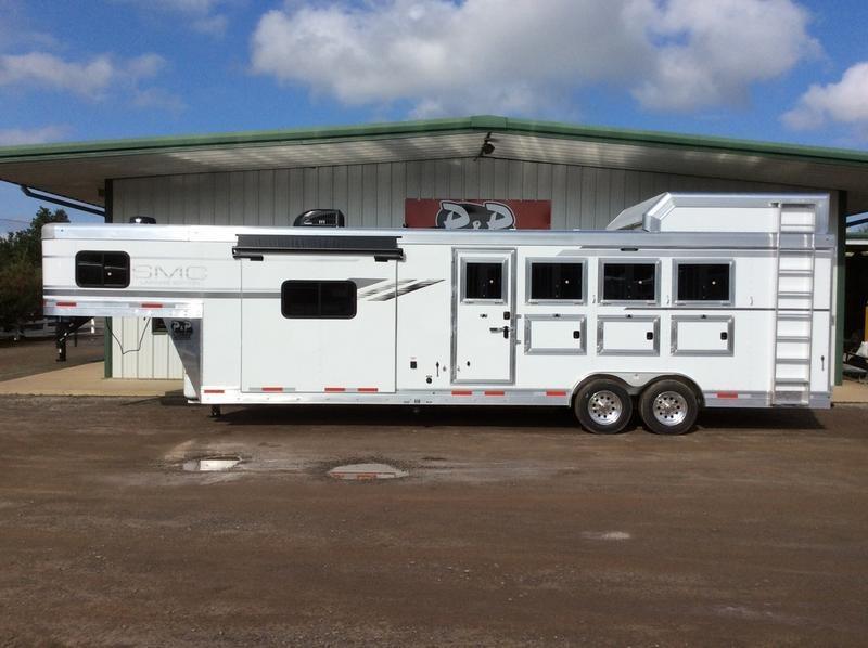 2019 SMC Horse Trailers 2019 SMC SL8413SSRSL 4H w/ 13 LQ 4 Horse 0 LQ Horse Trailer Slant
