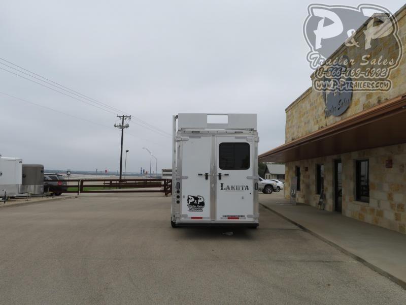 2019 Lakota C76411 4 Horse Slant Load Trailer 11 FT LQ With Slides