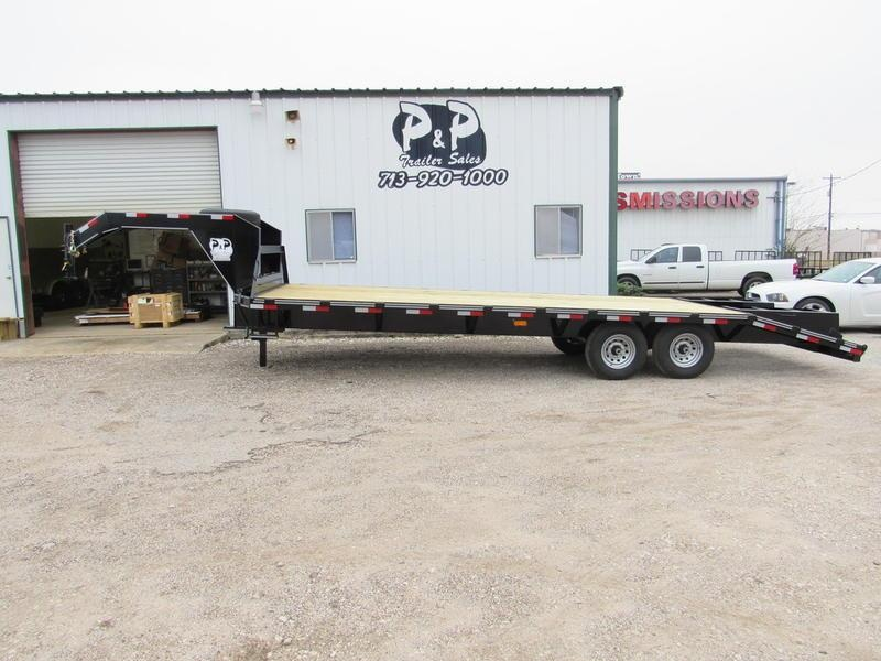 2018 P and P 20 + 5' Dovetail GN 20' Flatbed Trailer in Ashburn, VA