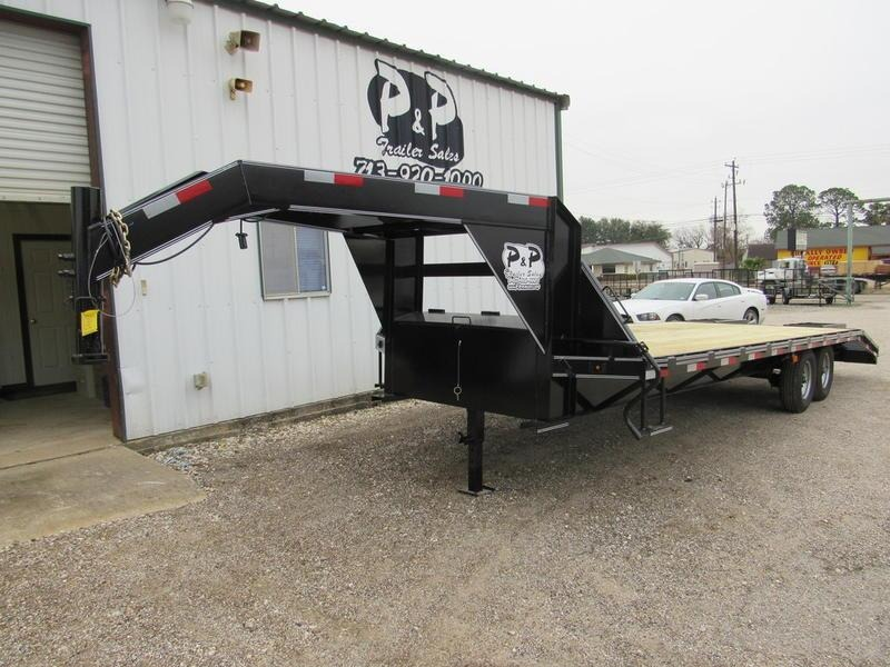 2018 P and P 20 + 5' Dovetail GN 20' Flatbed Trailer
