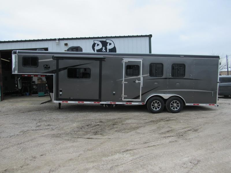 2019 Bison Trailers 3 Horse 9 Shortwall w/Slide-Out Horse Trailer