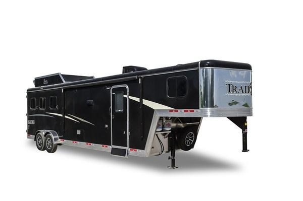 2019 Bison Trailers Trail Boss 7311TB-SO 3 Horse 11 LQ Horse Trailer Slant