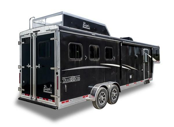 2019 Bison Trailers Trail Boss 7311TB-SO 3 Horse 11 LQ Horse Trailer Slant