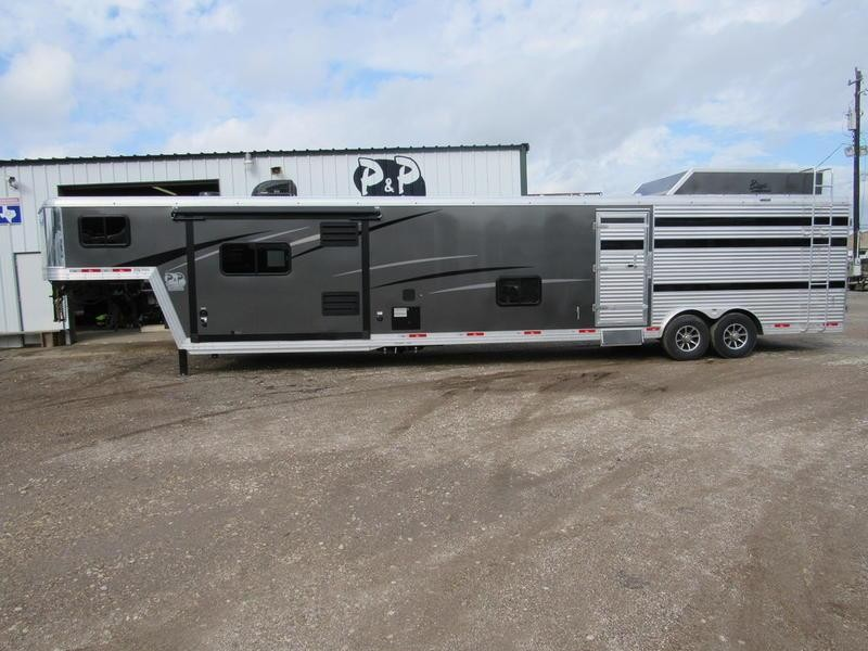 2020 Bison Trailers Laredo Stock 11 SW Living Quarters w/ 16' Stock Area 36' Livestock Trailer LQ
