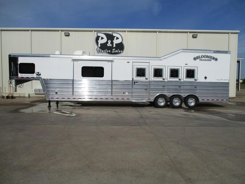 2018 Bloomer Trailers 8415PCTB 4 Horse 15' Trail Boss Conversion PC Load