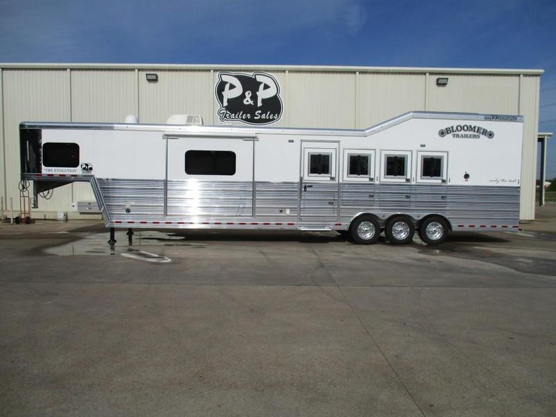 2018 Bloomer Trailers 8415PCTB 4 Horse 15' Trail Boss Conversion PC Load in Ashburn, VA