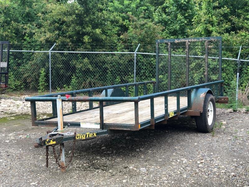 2002 Big Tex Trailers 30SA-14 14' Equipment Trailer