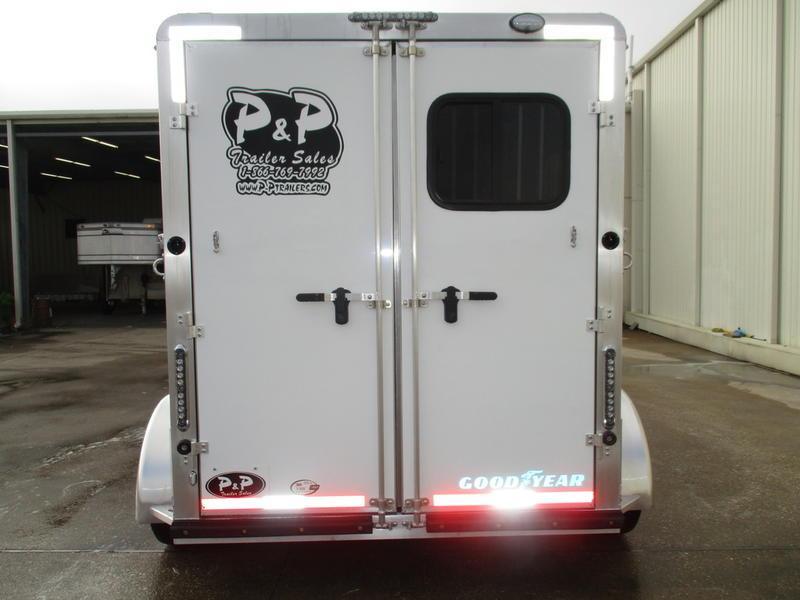 2019 P & P 2 Horse Slant Load Bumper Pull