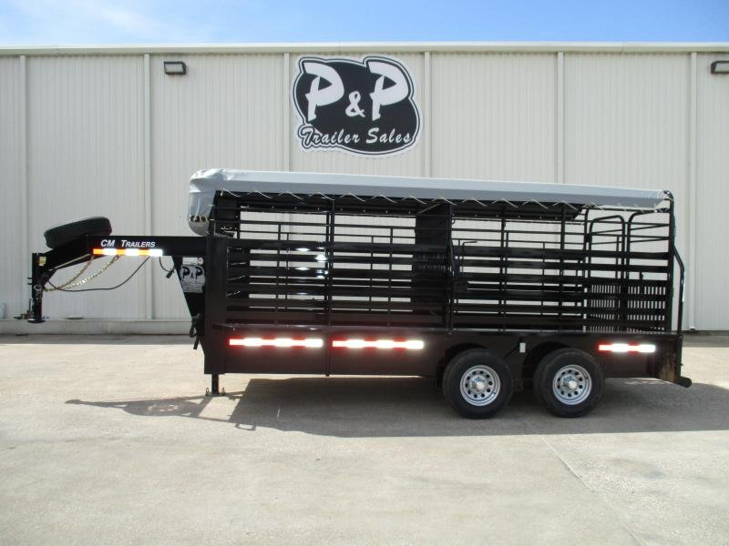 2019 CM Brush Buster 16 x 68 x 6'6 Livestock Trailer