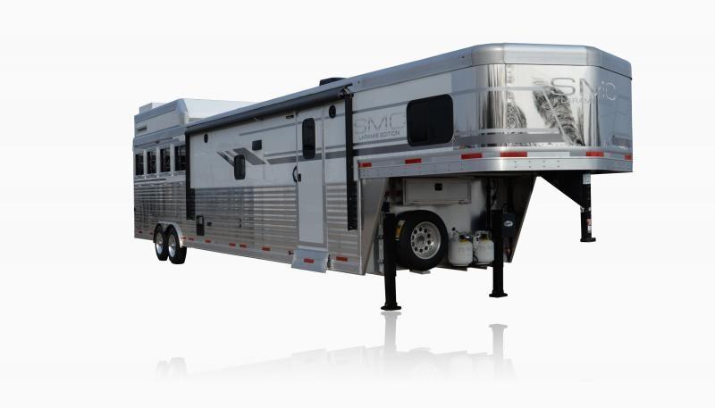 2019 SMC Horse Trailers SL8X16SSR LARAMIE 3 Horse 16' LQ Horse Trailer Slant