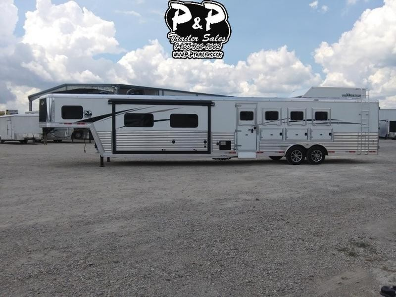 2019 Bison Laredo 8416LDSSRSL 4 Horse with 16' Short wall