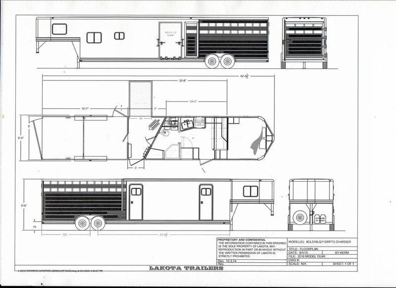 2019 Lakota Trailers Charger Livestock Edition 16' Stock 11' Living Quarter