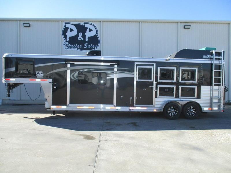 2017 Lakota Trailers Charger Edition C311 3 Horse 11' Short Wall w/Slide-out & LP Generator