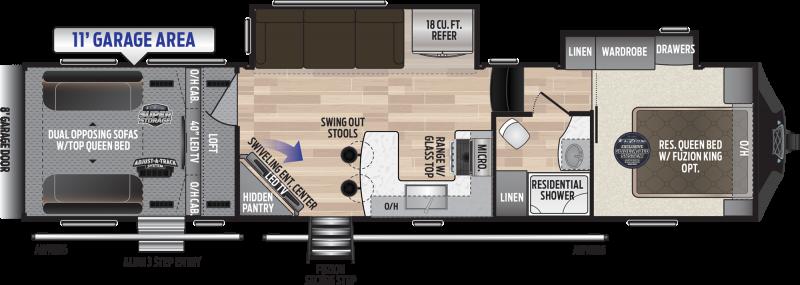 2019 Keystone Fuzion 369 TOY HAULER 39' Toy Hauler LQ in Avondale, AZ