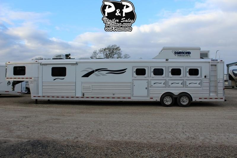 2008 Diamond 8419 4 Horse with 19' Short wall
