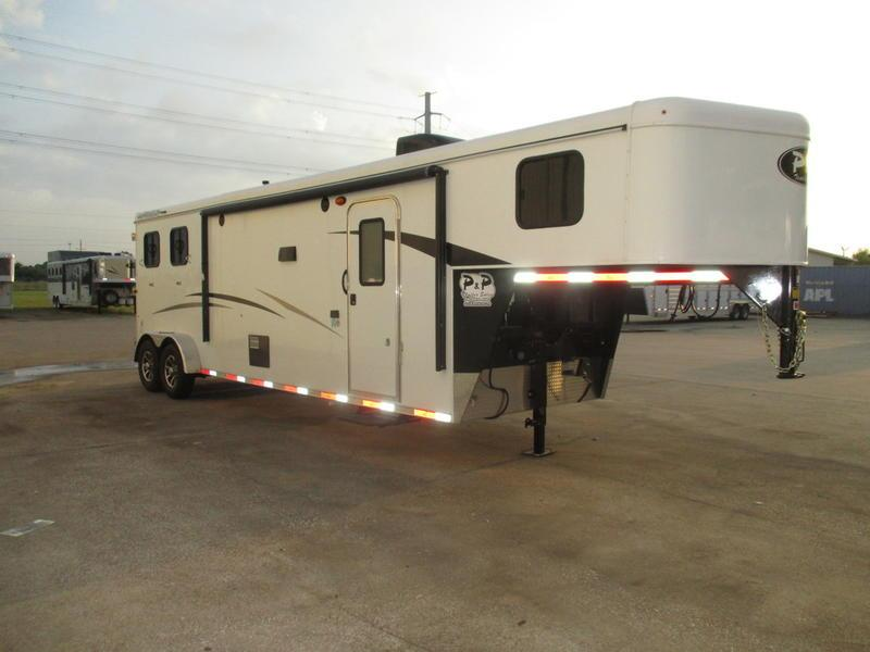 2019 Bison Trail Hand 7211TH 2 Horse 11' Short Wall w/Slide Out Slant Load