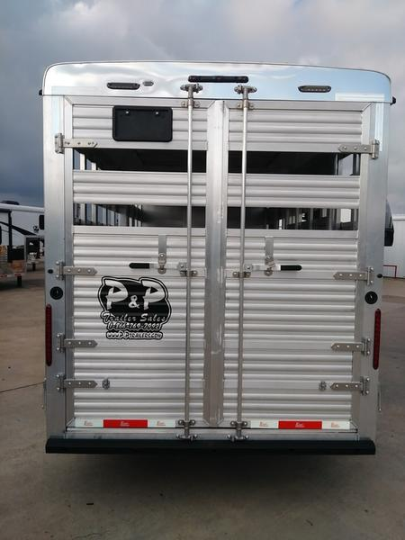 2018 Bison Trailers 9 Short Wall Stock/Combo with Slideout 37.67' Livestock Trailer LQ