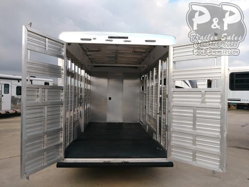 2020 Bison Trailers 9 Short Wall Stock/Combo with Slideout 37.67' Livestock Trailer LQ