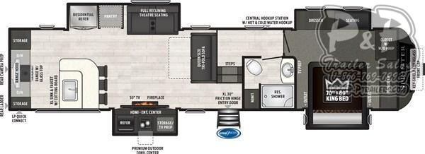 2019 Keystone Sprinter LIMITED 3551FWMLS 39' Fifth Wheel Campers LQ