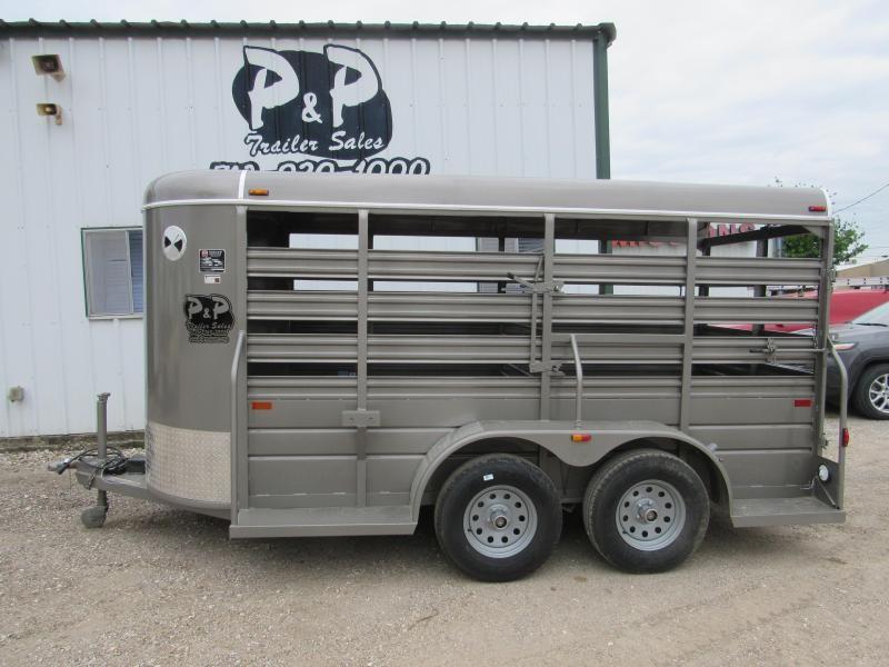 2019 W-W Trailer 14 x 5 Stock Livestock Trailer