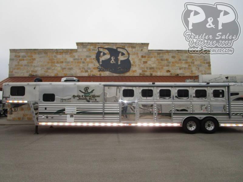 2000 Bloomer 5H 13 FT 5 Horse Trailer 13 LQ Slant