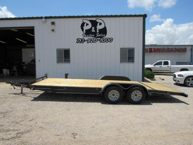 2019 P & P 83 x 20 Wood Floor Car Hauler