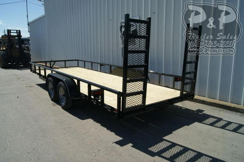 2019 P and P 83 X 20 Lowboy 20 ft Utility Trailer