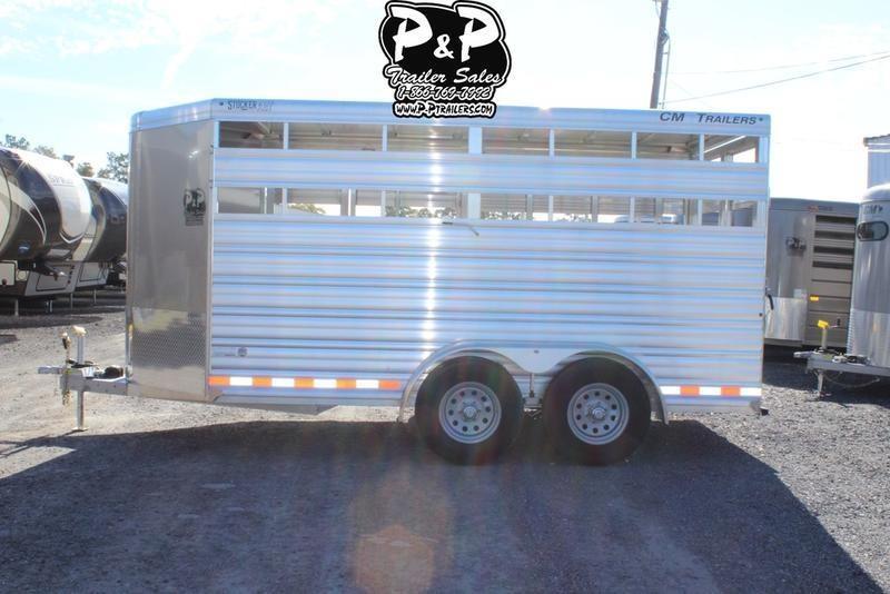 2019 CM Stocker AL-V 16 ft. 6 8 W x 7' T Livestock Trailer