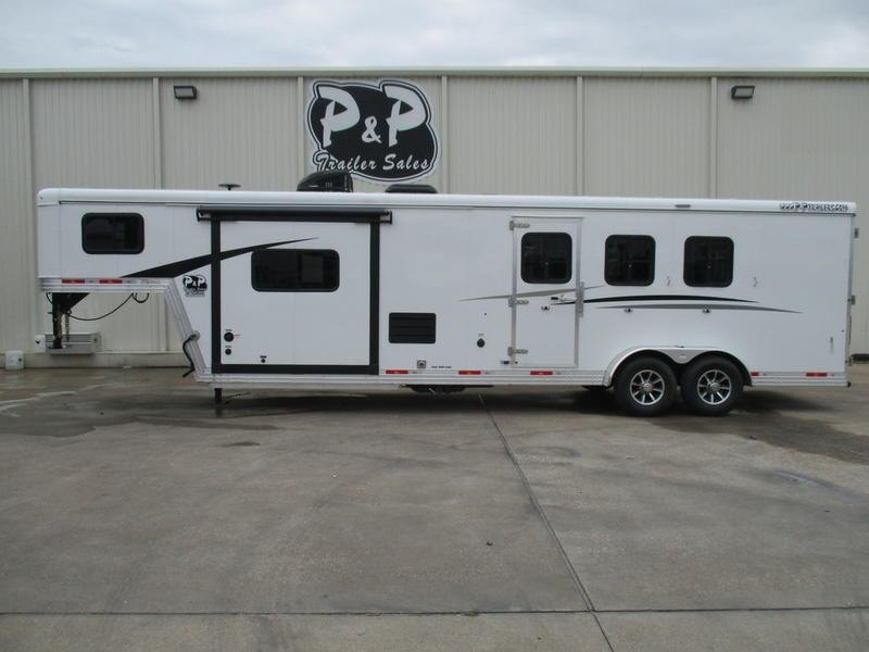 2019 Bison Trail Boss 7311TBSO 3 Horse 11' Short Wall with Slide-out