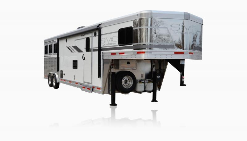 2019 SMC Horse Trailers SL8X12SR LARAMIE 3 Horse 12' LQ Horse Trailer Slant