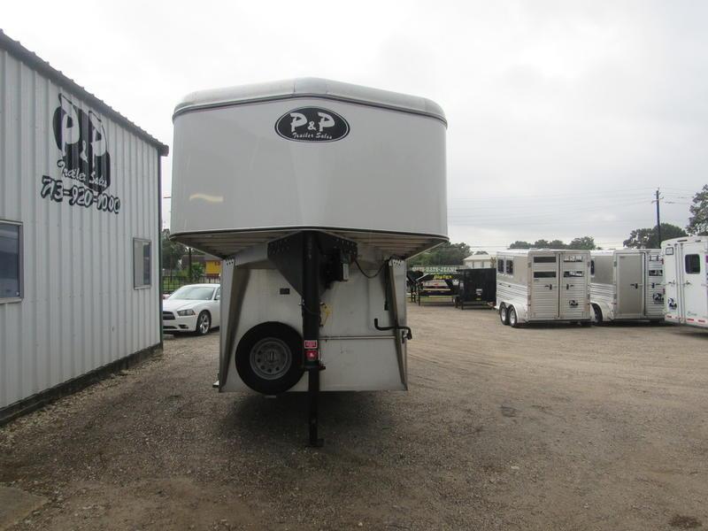 2019 P & P  3-Horse Gooseneck Slant Load