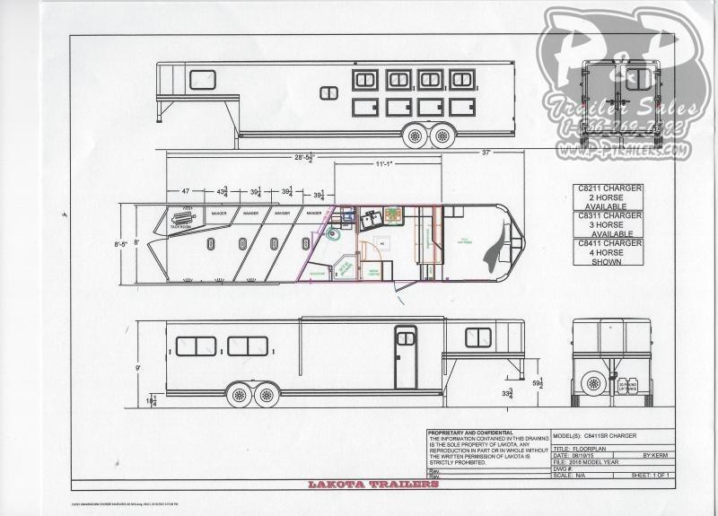 2020 Lakota C8411SRNS 4 Horse Slant Load Trailer 11 FT LQ