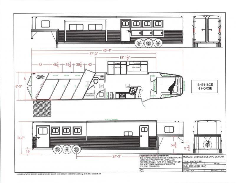 2020 Lakota BH8418TCERSL 4 Horse 18 LQ 4 Horse 0 LQ Horse Trailer Slant
