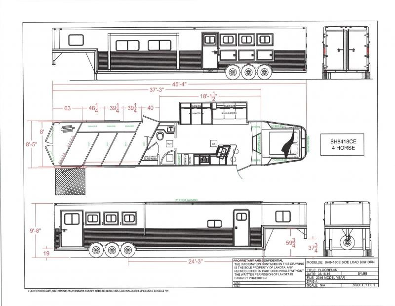 2020 Lakota BH8418TCERSL 4 Horse Trailer 18 LQ With Slides Slant in Ashburn, VA