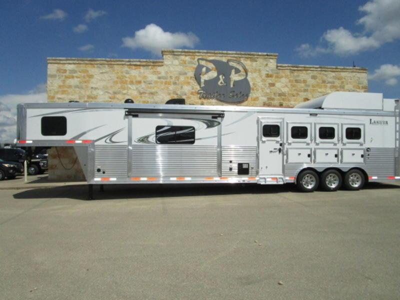 2019 Lakota Big Horn Edition B8417 Side Load 4 Horse Trailer 17 LQ With Slides Slant