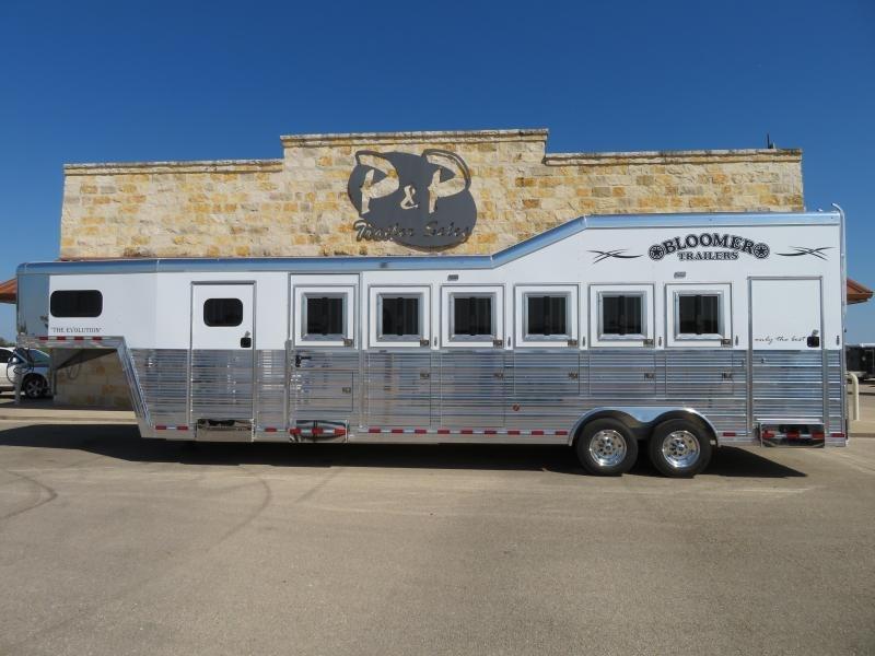 2020 Bloomer 86TRN Super Tack 6 Horse Trailer Slant