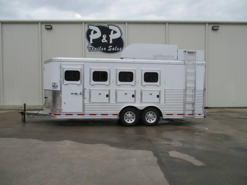 2018 Lakota Trailers L4HSLBPDR 4 Horse Bumper Pull PC Load