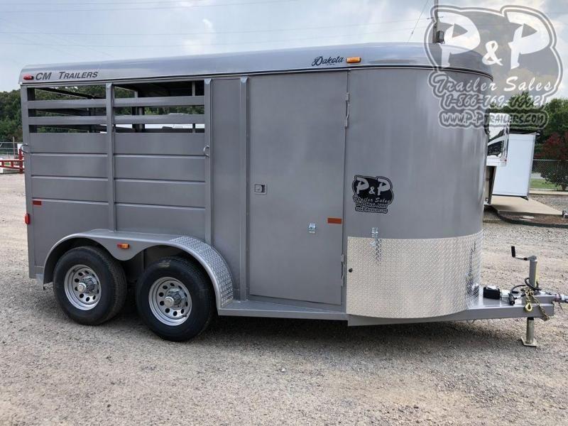 2020 CM CMH0832-1400235 Dakota 2 Horse Slant Load Trailer