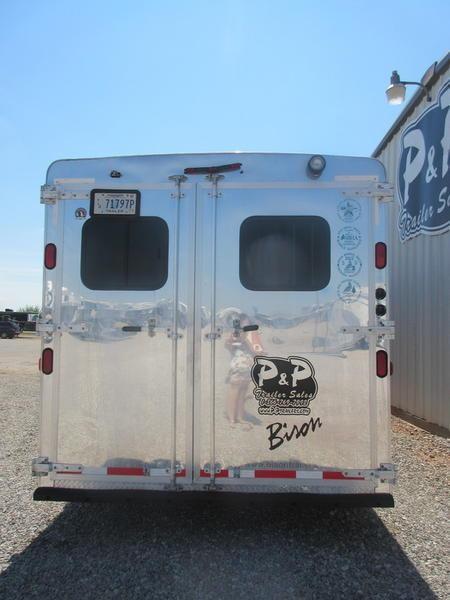 2012 Bison Trailers 8312 stratus 3 Horse Trailer 12 LQ With Slides Slant