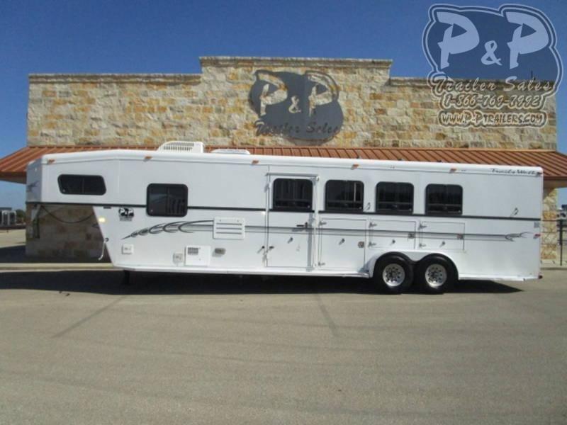 2003 Trails West Manufacturing Sierra Standard 4 Horse Gooseneck 4 Horse Slant Load Trailer 10 FT LQ