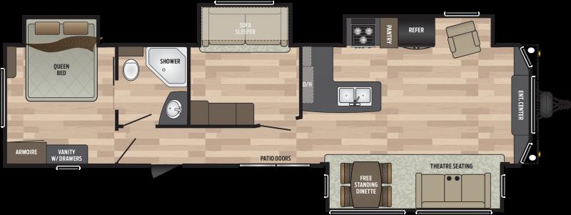 2019 Keystone RV Residence 40MBNK DESTINATION TRAILER 39.83' Destination Trailers LQ